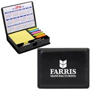 Promotional Flip Top Note Holder w/ Pen & Calendar
