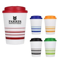 Promotional Striped Coffee Mug Tumbler
