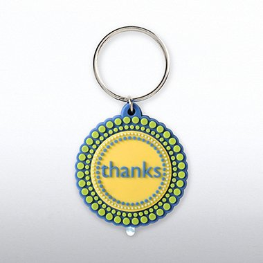 PVC LED Flashlight Keychain - Thanks for All You Do!