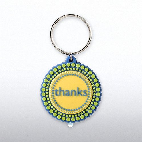 Thanks for All You Do! PVC LED Flashlight Keychain