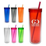 Promotional Double-Wall Translucent Tumbler
