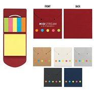 Promotional Pocket Sticky Note & Flag Set