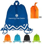 Promotional Fun Stripes Drawstring Bag