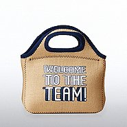 Burlap Cooler Tote - Welcome to the Team