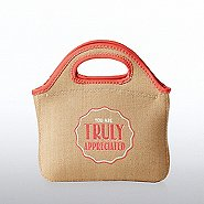 Burlap Cooler Tote - You Are Truly Appreciated