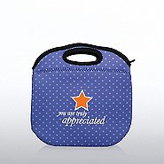 Polka Dot Lunch Tote -  You are Truly Appreciated