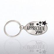 Nickel-Finish Key Chain - We Appreciate You