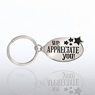 Nickel-Finish Key Chain - We Appreciate You