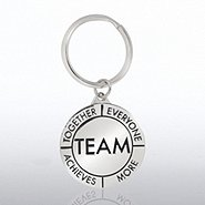 Nickel-Finish Key Chain - TEAM