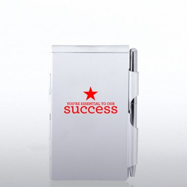 Mini Silver Jotter - Personalized