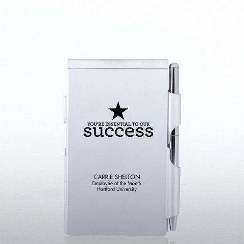 Personalized Mini Silver Jotter