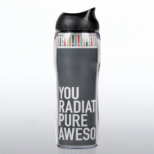 Grey Exclamations Travel Mug