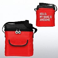 Goofy Grin Cooler Bag - Hello: My Name is Awesome