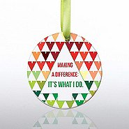Ceramic Slice Value Ornament - MAD: It's What I Do