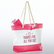 Beach Please Tote and Towel Gift Set - Thanks For All You Do