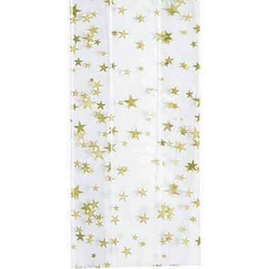 Cellophane Bag - Gold Star - Small