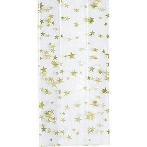 Small Gold Star Cellophane Bag