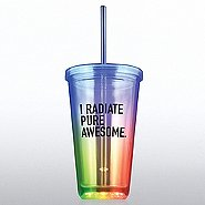 Light-Up Tumbler - I Radiate Pure Awesome