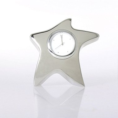 Silver Star Desk Clock - Blank
