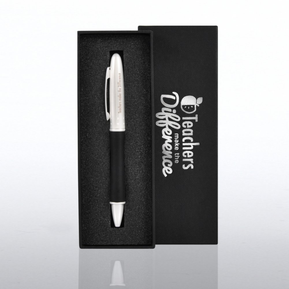 Teachers Make a Difference Silver Gift Pen $9.95 or less!