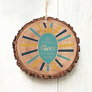 Charming Woodslice Ornament - You Put The Cheer In Our Year