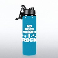 Neon Water Bottle - My Boss Thinks I Rock