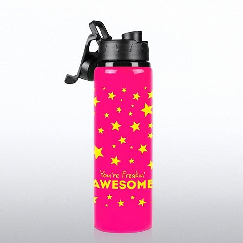 You're Freakin' Awesome Neon Water Bottle