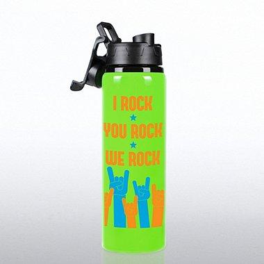 Neon Water Bottle - I Rock, You Rock, We Rock