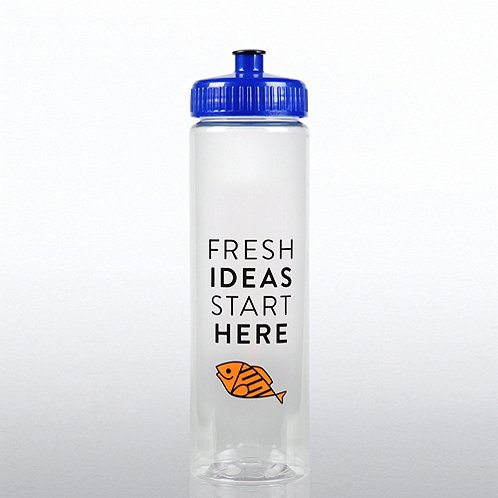 F.I.S.H Fresh Ideas Start Here Color Splash Water Bottle