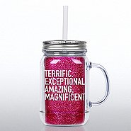 Mason Jar Tumbler w/ Handle - Terrific Team