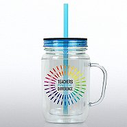 Mason Jar Tumbler w/ Handle - Teachers Make the Difference