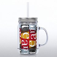 Mason Jar Tumbler w/ Handle - TEAM Blocks