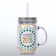 Mason Jar Tumbler w/ Handle - 2015: Making a Difference