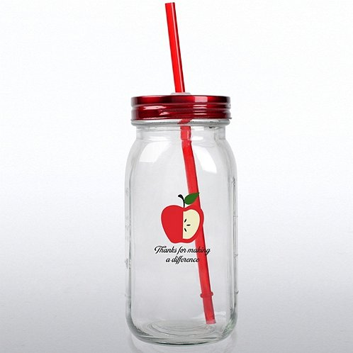 Education: Thanks for Making a Difference Glass Mason Jar