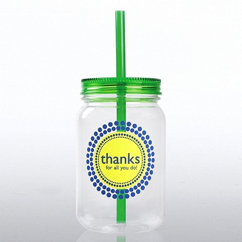 Thanks for All You Do! Mason Jar Tumbler