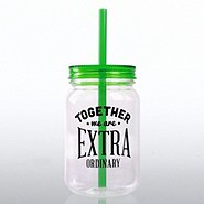 Mason Jar Tumbler - Together We Are Extra Ordinary!