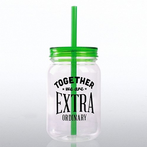 Together We Are Extra Ordinary! Mason Jar Tumbler