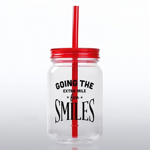 Going the Extra Mile for Smiles Mason Jar Tumbler