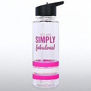 Color Band Flip Top Water Bottle - You're Simply Fabulous