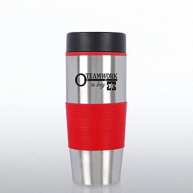 Value Stainless Steel Travel Mug - Teamwork is Key