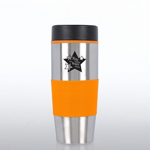 Value Stainless Steel Travel Mug: You Make Our Team Work