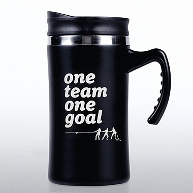 Big Sip Stainless Steel Travel Mug - One Team, One Goal