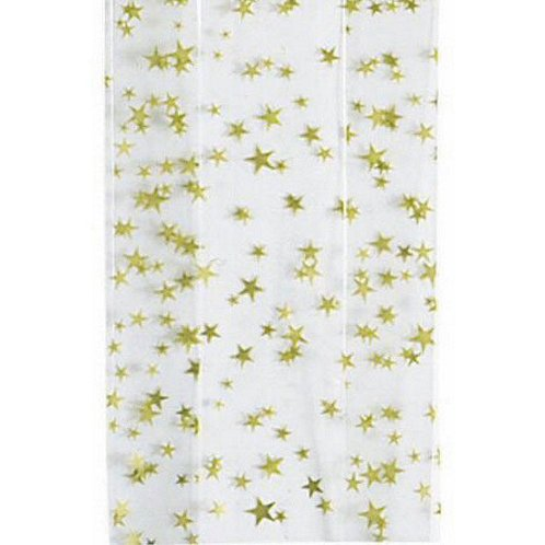 Large Gold Star Cellophane Bag