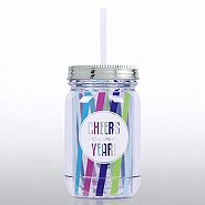 Holiday Mason Jar Tumbler - Cheers to a Great Year!