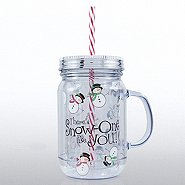 Holiday Mason Jar Tumbler - There's Snow-One Like You!