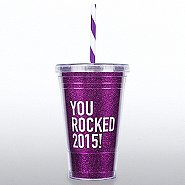 Holiday Glitter Tumbler: You Rocked 2015