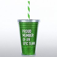 Holiday Glitter Tumbler: Proud Member of an Epic Team