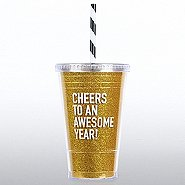 Holiday Glitter Tumbler: Cheers to an Awesome Year