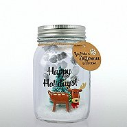 'Tis the Season - Holiday Mason Jar - You Make a Difference