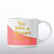 Color-Dipped Ceramic Mug - You Make A Difference Every Day